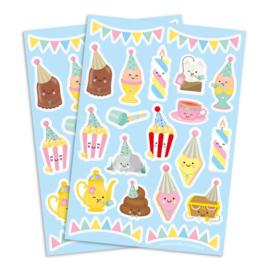 Stickervel feest en slingers , 20 stickers