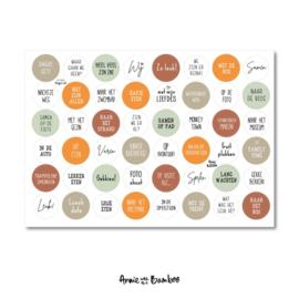 Stickervel cadeaustickers dagje uit  met  48 ronde (sluit)stickers