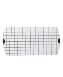 gondeldoosje wit met zwarte grid