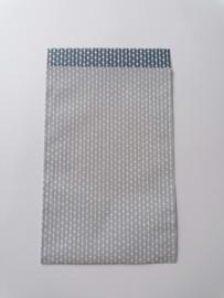 cadeauzakje connection dots, salie/grijs 12 x 19 cm