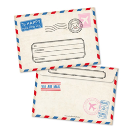 Witte A6 enveloppe, happy mail for you /airmail