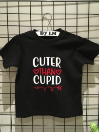 Valentijns shirt ; cuter than Cupid of cupid's little helper
