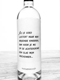 zelfklevend wijnetiket Achtergrond + ansichtkaart wijnen! Mama Drinkt Wijn