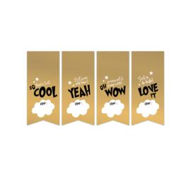 Set van 4 sluistickers, Cool Sint goud