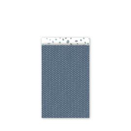 cadeauzakje connection dots, blauw 12 x 19 cm