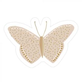 sticker beige vlinder