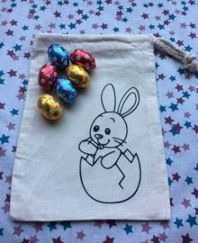 Paas zakje om met Pasen de gevonden eieren in te stoppen