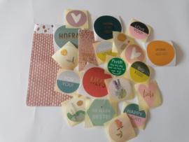Stickerset van 20 stuks Verschillende sluitstickers kleurrijk