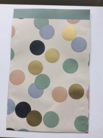 cadeauzakje big confetti 17x25 cm  (L)