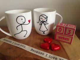 Valentijns /liefdes mokken