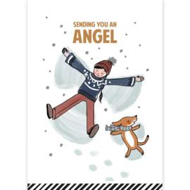 Ansichtkaart  sending you an angel