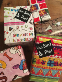 Cadeaustickers van Sint & Piet, 10 st