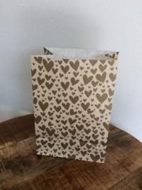 blokbodemzak hearts - 17x10x25 cm