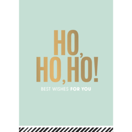 Ansichtkaart HO,HO,HO! best wishes for you