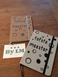 A6 notitieboekje liefste juf of tofste meester