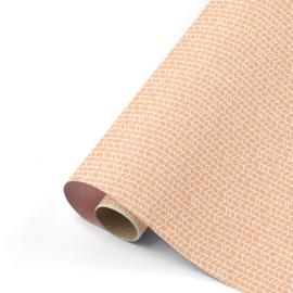 Dubbelzijdig inpakpapier New tracks blush oudroze 50x 300 cm