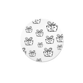 Witte (sluit)sticker vol cadeautjes