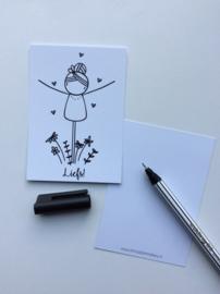 Minikaartje Liefs! Irmadammekes