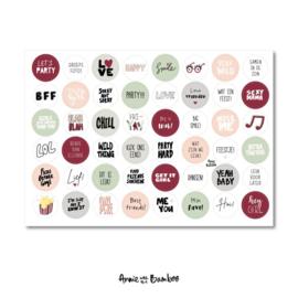 Stickervel festival ,  48 ronde (sluit)stickers