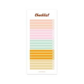vrolijk gekleurde checklist