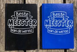 notitieboekje voor de beste meester van de wereld