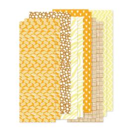 set papierstroken geel/oker 12 stroken