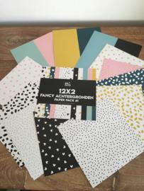 fancy achtergronden paper pack 12x2