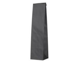 Zwart papieren geschenk zak voor een wijnfles