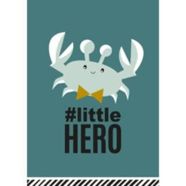 Ansichtkaart #little hero