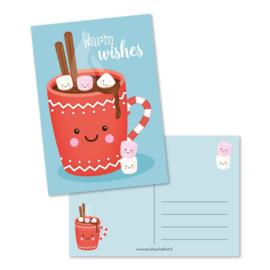 Ansichtkaart warm wishes