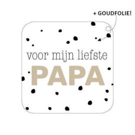 voor mijn liefste papa (sluit)sticker