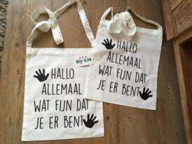 katoenen tas met hengsel  Hallo Allemaal, fijn dat je er bent.