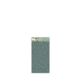 cadeauzakje Twinkling Stars petrol/roze 7x13 cm