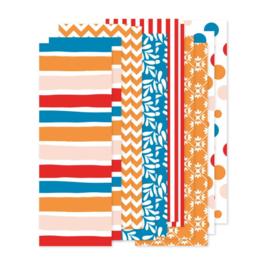set papierstroken Koningsdag  12 stroken