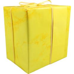 Cadeaupapier marmer geel