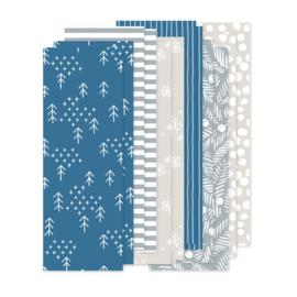set papierstroken winter, 12 stroken