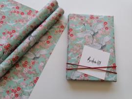 Inpakpapier crane mint
