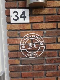 Huis naam bordje