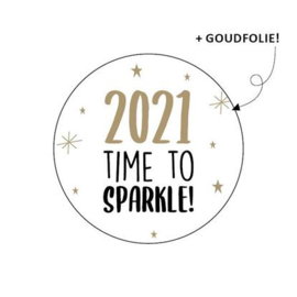 Sluitsticker 2021 time to sparkle