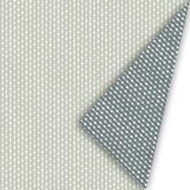 Dubbelzijdig inpakpapier connection  naturel, salie/grijs