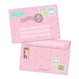 Roze A6 enveloppe