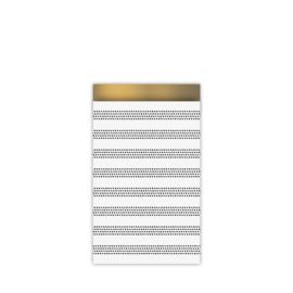 cadeauzakje raster stripes, chique 12 x 19 cm