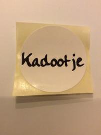 Kadootje  (sluit)sticker