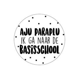 (sluit)sticker aju paraplu ik ga naar de basisschool