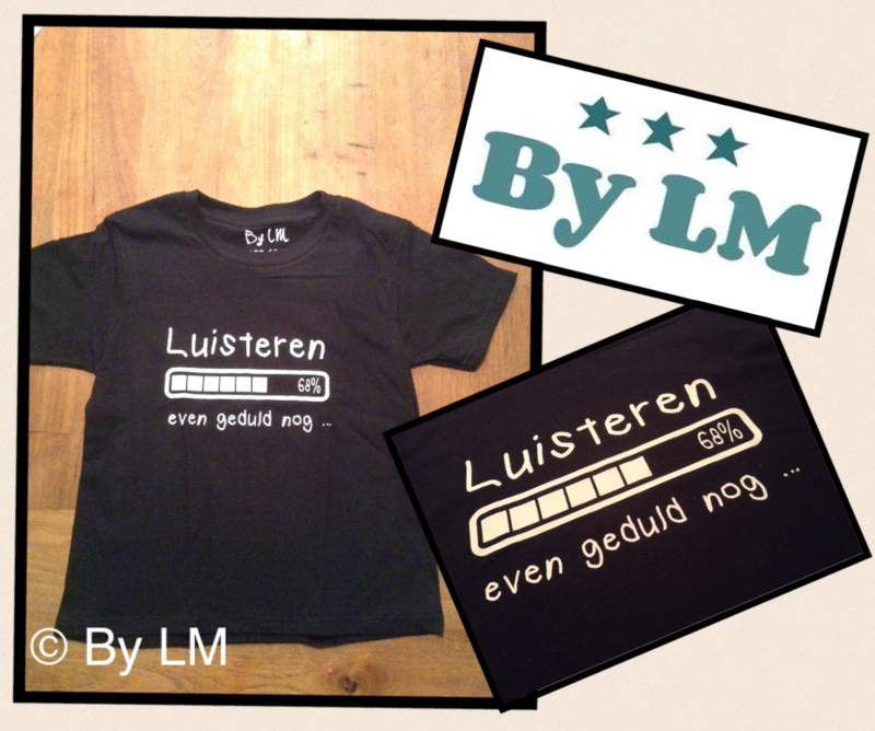 T-shirt luisteren ...even geduld