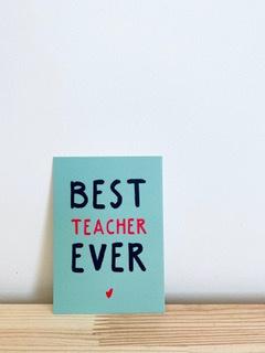 A7 Minikaartje best teacher ever