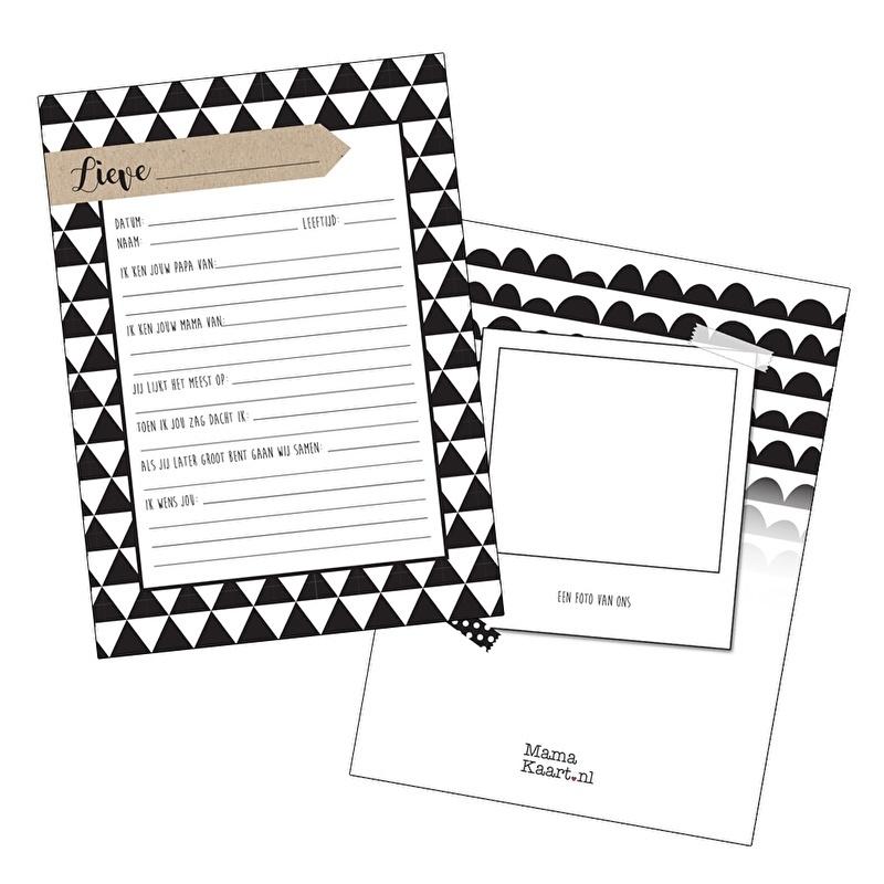 Set van 25 kraambezoek kaarten