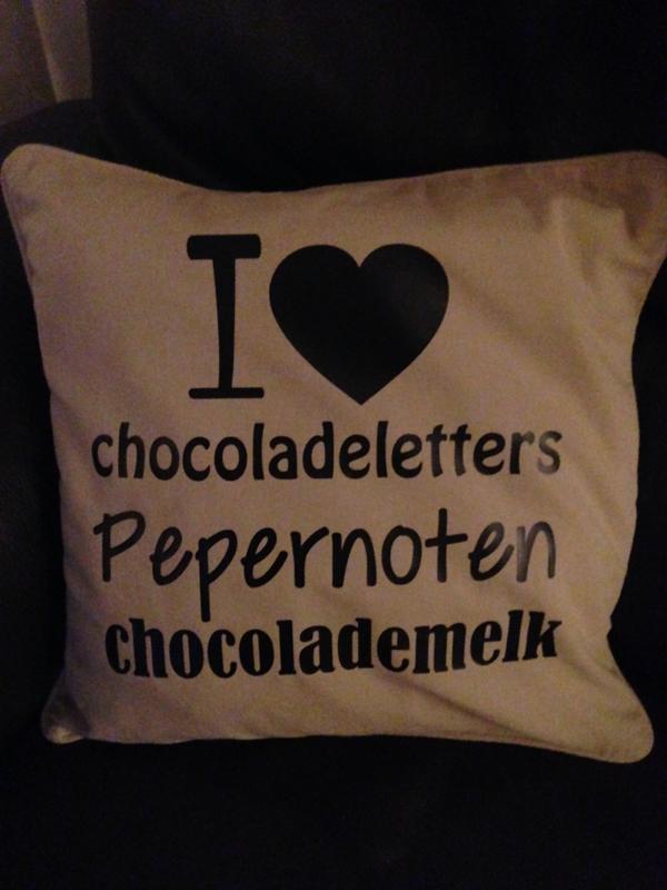 I love pepernoten... gezellige kussenhoes voor de Sint periode