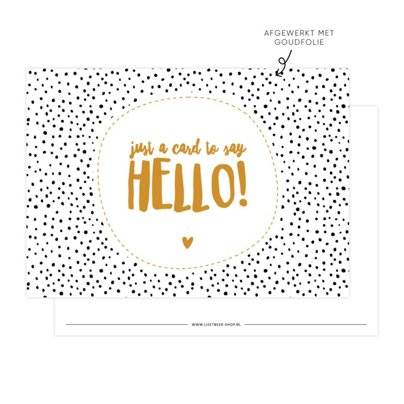 Kaart Just a card to say hello!