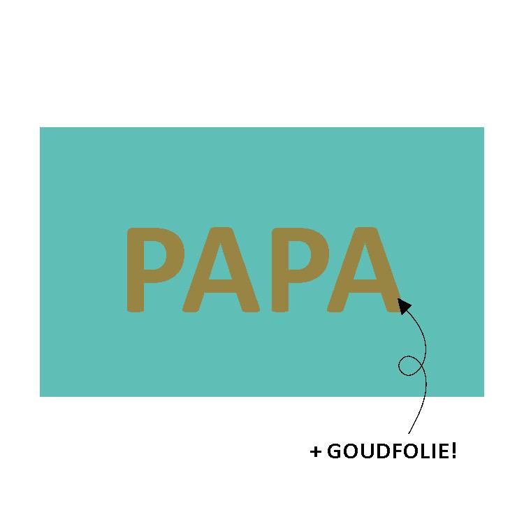 Sluitsticker papa, groen met goud